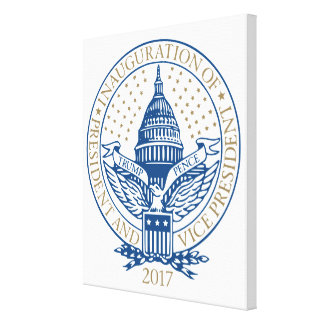 Inauguration Republican President Trump Pence Logo Canvas Print