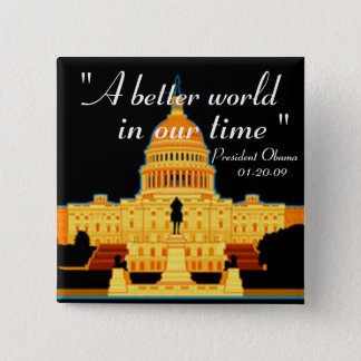 Inauguration Speech Obama button