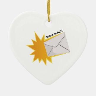 Inbox Is Full! Ceramic Heart Ornament