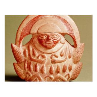 Inca agricultural deity wearing a moon headdress postcard