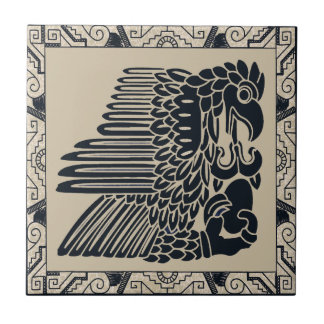 Inca Eagle with New Life Small Square Tile