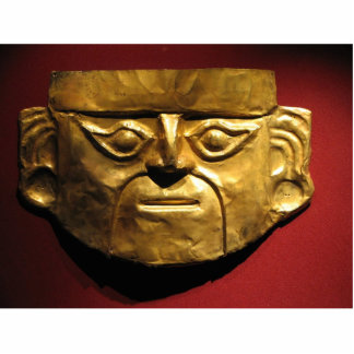 Inca gold mask, Lima, Peru Standing Photo Sculpture