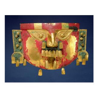 Inca mask postcard