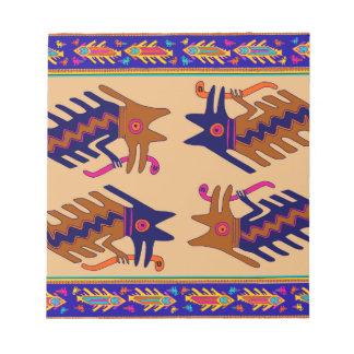 Inca Tribal Serpent Notepad