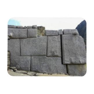 Inca Wall at Machu Picchu Magnetn Rectangular Photo Magnet