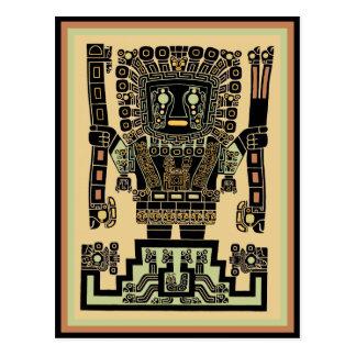 Inca Warrior God Postcard