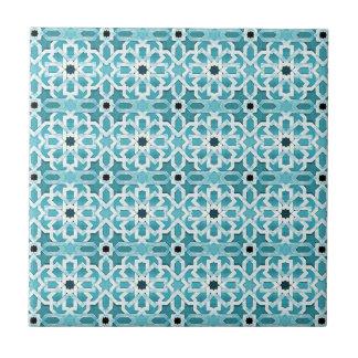 Incandescent Blue Moroccan Pattern Tile