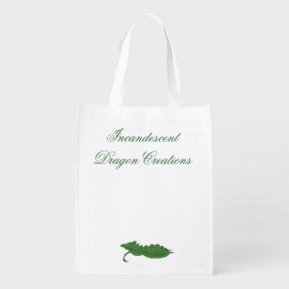 Incandescent Dragon Creations Green dragon bag