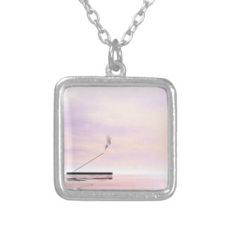 Incense - 3D render Silver Plated Necklace