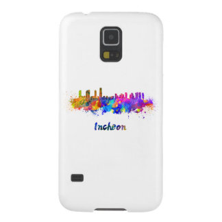 Incheon skyline in watercolor galaxy s5 covers