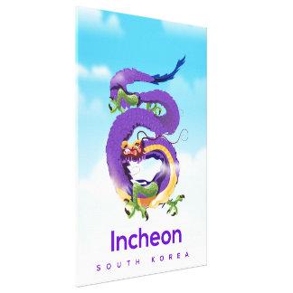 Incheon South Korea Dragon Canvas Print