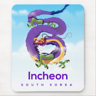 Incheon South Korea Dragon Mouse Pad