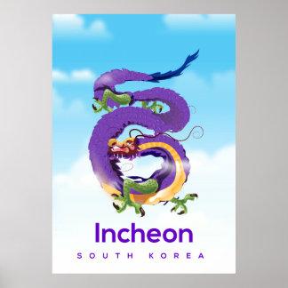 Incheon South Korea Dragon Poster