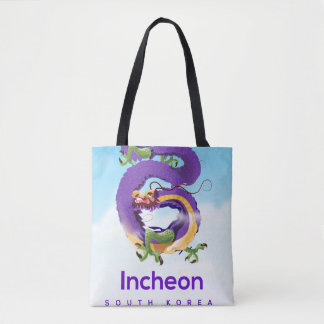 Incheon South Korea Dragon Tote Bag