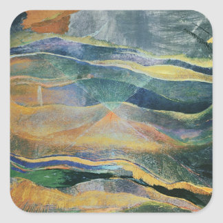 Incidents of Colours and Plains (tempera and penci Square Sticker