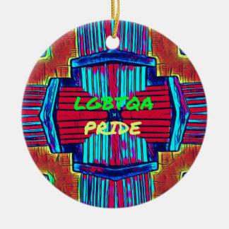 Inclusive 'LGBTQA PRIDE 'Rainbow Spectrum Ceramic Ornament