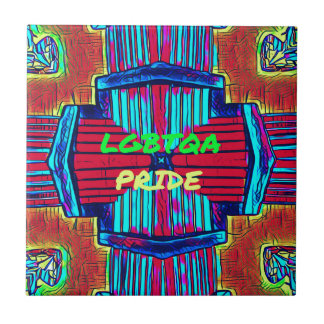 Inclusive 'LGBTQA PRIDE 'Rainbow Spectrum Ceramic Tile