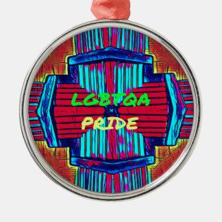 Inclusive 'LGBTQA PRIDE 'Rainbow Spectrum Metal Ornament