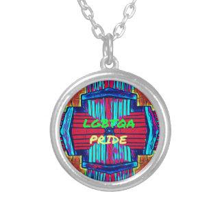 Inclusive 'LGBTQA PRIDE 'Rainbow Spectrum Silver Plated Necklace