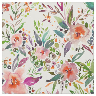 INCOGNITO INTROVERT Tropical Colorful Floral Fabric