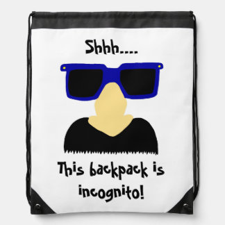 Incognito Mustache Glasses Backpack