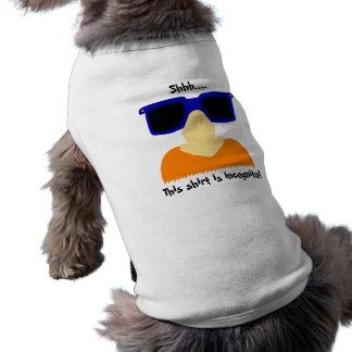 Incognito Mustache & Glasses Pet Shirt