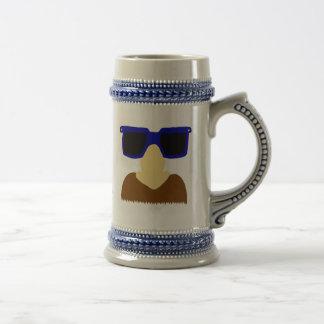 Incognito Mustache & Glasses Stein Coffee Mugs
