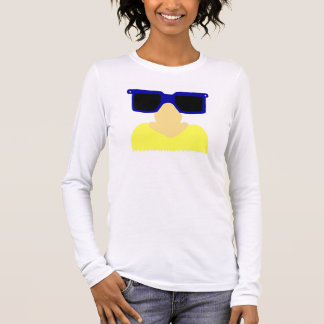 Incognito Mustache & Glasses Womens Long-Sleeve T Long Sleeve T-Shirt