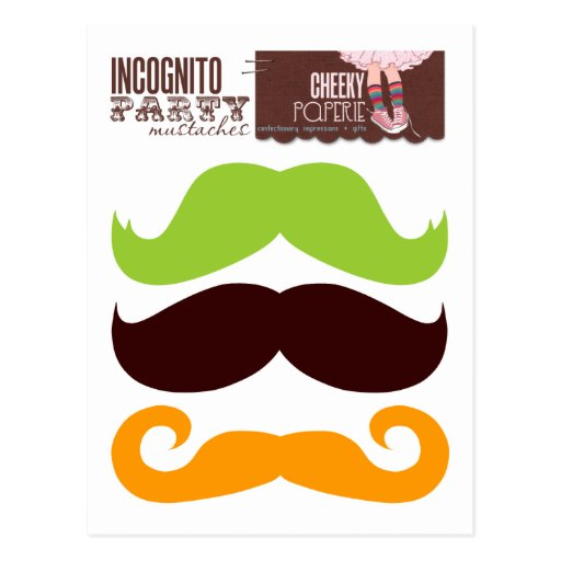 Incognito Party Mustaches 1 Postcards