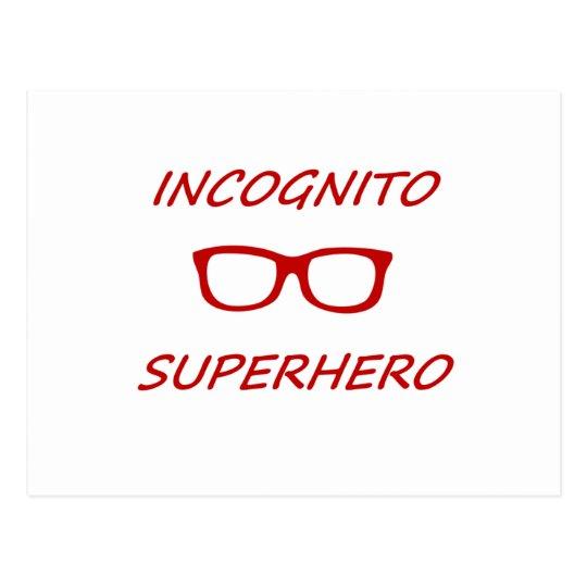 Incognito Superhero 01R Postcard