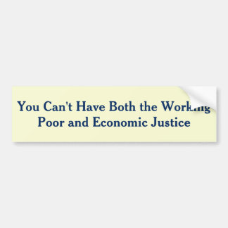Income Inequality is killing the Middle Class Car Bumper Sticker