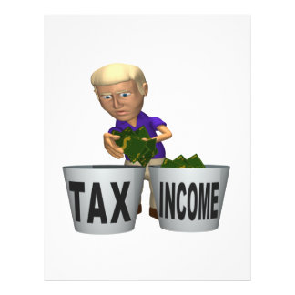 Income Tax 21.5 Cm X 28 Cm Flyer