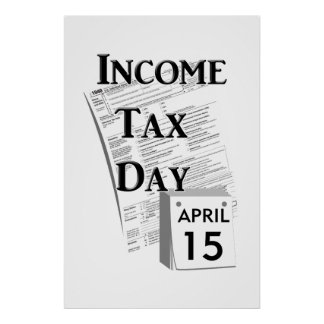 Income Tax Day Poster