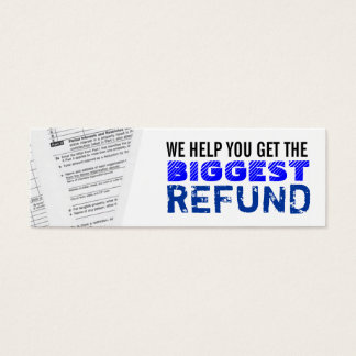 Income Taxes Skinny Business Cards