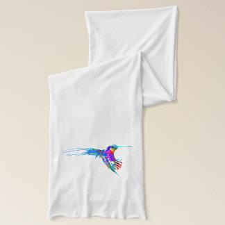 """Incoming!"" Hummingbird Print Scarf"