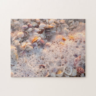 Incoming Surf And Seashells On Sanibel Island Jigsaw Puzzle