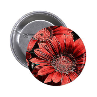 incomparably beautiful blooms, red pinback buttons