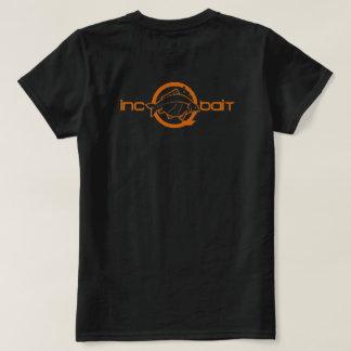 incQbait Ladies Team Tangerine logo T-Shirt