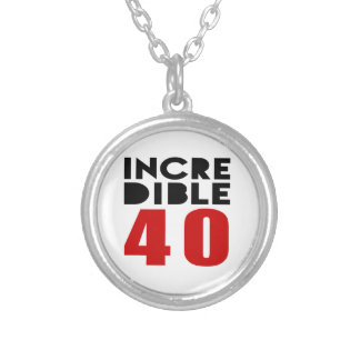 Incredible 40 Birthday Designs Round Pendant Necklace