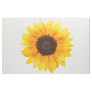 Incredible Autumn Beauty Sunflower Combed Cotton Fabric