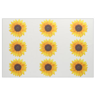 Incredible Autumn Beauty Sunflowers Combed Cotton Fabric