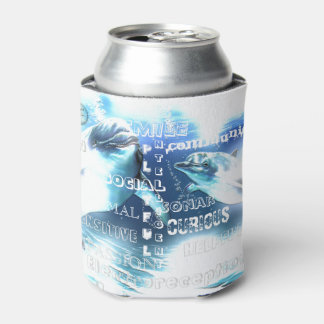 Incredible Dolphins Typography Can Cooler