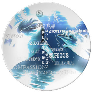 Incredible Dolphins Typography Plate