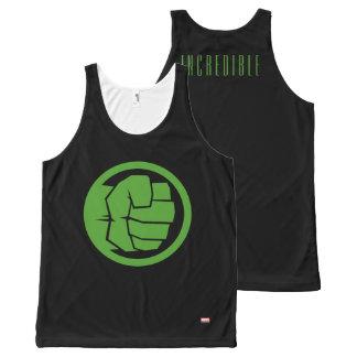 Incredible Hulk Logo All-Over Print Tank Top