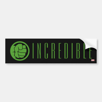 Incredible Hulk Logo Bumper Sticker