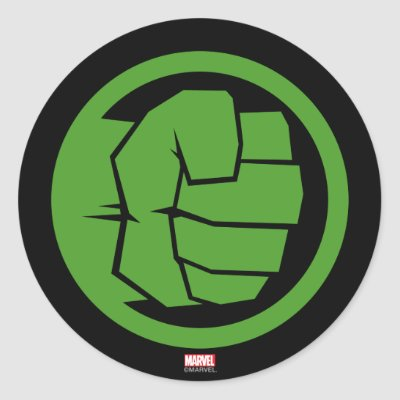 The incredible hulk logo classic round sticker zazzle com au