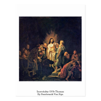 Incredulity Of St Thomas By Rembrandt Van Rijn Postcard