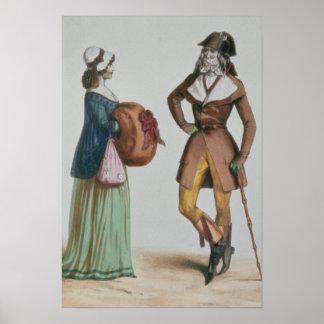 `Incroyable et Merveilleuse', c.1775 Poster