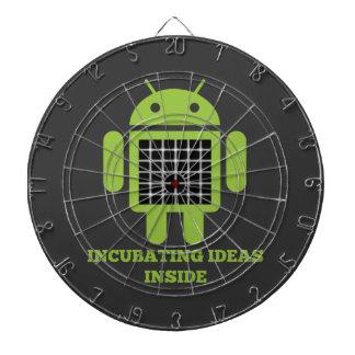 Incubating Ideas Inside (Bug Droid Grid Illusion) Dartboard