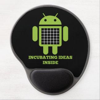 Incubating Ideas Inside (Bug Droid Grid Illusion) Gel Mouse Mat